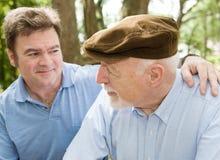 faderpensionär Fotografering för Bildbyråer