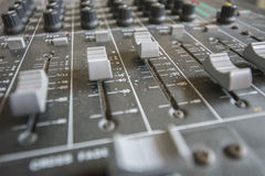Free Faders And Potentiometers Trimmers In A Mixer Table Royalty Free Stock Photos - 50226568