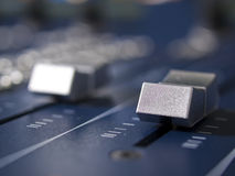 Faders Close up Royalty Free Stock Photography