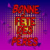 Faders f?r Bonne stor festDes Peres dag i franska arkivbild