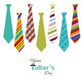 Faders kort för dag royaltyfri illustrationer