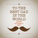 Faders kort för mustasch för dag Royaltyfri Foto