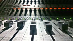 Faders on a Mixing Board royalty free stock images