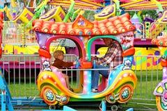 FaderSon Carnival Train ritt Arkivbilder