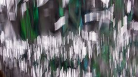 Fading Aluminium Foil with Green Color Stock Photography