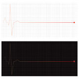 Fading cardiogram cardiac arrest Stock Photos