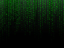 Fading Data Background. Fading green letters and numbers alphanumeric data background Stock Images