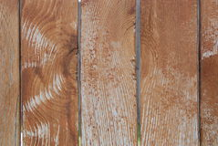 Fading Fence Stain - Texture. Shows a closeup of cedar stain that is fading from a wooden fence Royalty Free Stock Photography