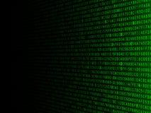 Fading Hexadecimal Background. Green hexadecimal computer code fading to the left Stock Images