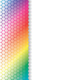 Fading hexagons in rainbow background royalty free illustration