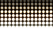 Fading led lights. Led light diodes, photographed at different exposures to make the detail appear. In the background is a halftone effect, that fades in the Royalty Free Stock Image
