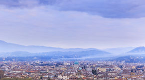 The fading mist over Florence at sunrise Stock Images