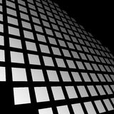 Fading mosaic of squares. Vanishing pattern in perspective. Royalty Free Stock Photo
