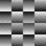 Fading mosaic of squares. Vanishing pattern in perspective. Royalty Free Stock Image