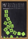 Fading new year resolutions stock photography