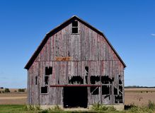 Fading Red Barn Royalty Free Stock Photography