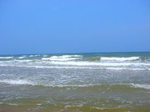 Fading Seawaves at Seashore, Paradise Beach, Pondicherry Royalty Free Stock Photos