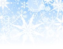 Fading Snowflake Background Stock Photography