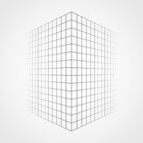 Fading and vanishing grid, mesh 3d abstract background Stock Photography