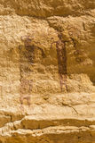 Fading 3000 Year-old Pictograph Panel Stock Photography