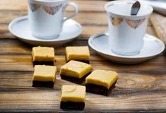 Fadj de chocolat avec le beurre d'arachide images stock