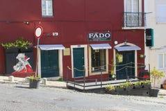 Fado bar restaurant terrace, Alfama, Lisbon, Portugal stock photo