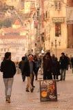 Fado muzyki reklama Coimbra Portugalia fotografia stock