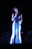 Fado-Sängerin - Musik - Live Concert - Frau Stockbild