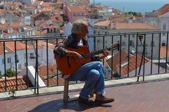 Fado singer in Lisbon Royalty Free Stock Photo
