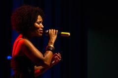Fado van Lura voert onstage uit Royalty-vrije Stock Foto