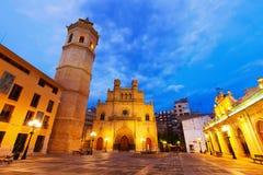 Fadri塔和哥特式大教堂Castellon的de la Plana 免版税库存照片