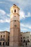 The Fadri, bell tower of the co-cathedral of Castellón, Spain. Belfry of the co-cathedral of Castellón, known as the Fadri because it is separated from the royalty free stock images