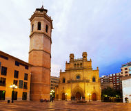 Fadri tower and Gothic Cathedral. Castellon de la Plana Royalty Free Stock Image