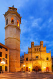 Fadri tower and Gothic Cathedral  at Castellon de la Plana Stock Photography