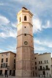 Fadrien, klockatorn av Co-domkyrkan av Castellà ³ n, Spanien royaltyfria bilder