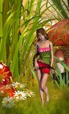 Fae among the grass Royalty Free Stock Photography