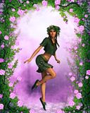 Fae among the roses Royalty Free Stock Photography