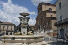 Faenza Италия: фасад собора Стоковая Фотография RF