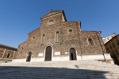 Faenza (Emilia-Romagna, Italy) - Cathedral facade Royalty Free Stock Image