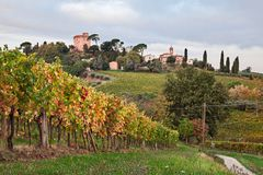 Faenza, Ravenna, Emilia Romagna, Italië: landschap bij zonsopgang van Royalty-vrije Stock Afbeelding