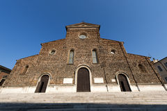 Faenza (Ravenna, Italy) - Cathedral facade Stock Images