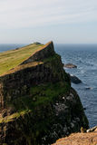 Faer oer mykines cliffs view Stock Photography