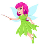 Faerie. Cartoon illustration of a little faerie Stock Photography