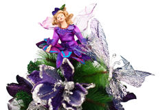 Faerie doll in Christmas tree Stock Photo