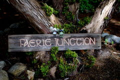 Faerie Junction Sign Royalty Free Stock Images