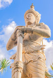 The faerie statue with blue sky background Royalty Free Stock Images