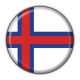 Faeroe button flag round shape Royalty Free Stock Photos