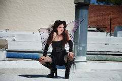 Faery on Roof Royalty Free Stock Images