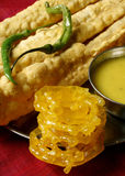 Fafda - A snack from Western Indian of Gujarat Royalty Free Stock Photography