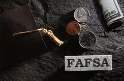 FAFSA wsparcie finansowe zdjęcia stock